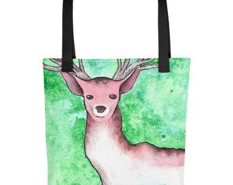 Stag Watercolor - Tote Bag