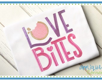 3666 Love Bites Valentine's Day embroidery design in digital format for embroidery machine by Applique Corner