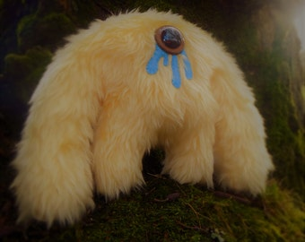 Plush monster kawaii cute soft toy Muji Mountain Cyclops Yeti 'Honey'