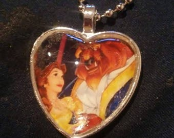 Beauty and the beast at the ball Necklace