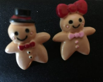 Gingerbread Boy and Girl Earrings   H2