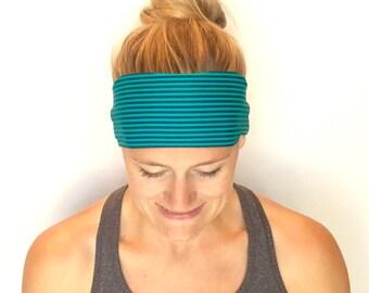 Running Headband - Workout Headband - Fitness Headband - Yoga Headband - River
