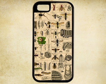 Early Natural History Illustration of Insects From The 1500s   i Phone Case 4, 4s, 5, 5C, 6, 6+ and Samsung Galaxy 3, 4, 5, 6, Edge
