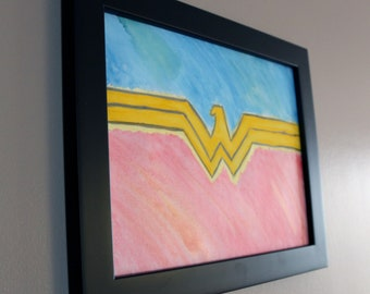 DC Wonder Woman Watercolor Painting