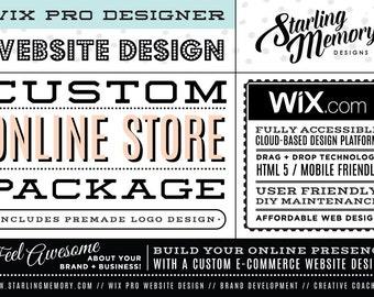 CUSTOM WIX E-COMMERCE Website Design Package - Custom Wix Online Store Website Package - Wix Custom Online Store Website Package - Wix Pro