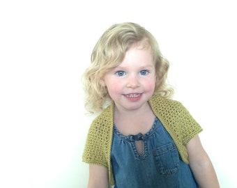 Olive Shrug, PATTERN pdf, UK crochet terms,