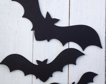 Black Bat Die Cut Assortment Wall Decor