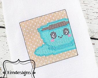 Kitchen Embroidery Machine Cross Stitch ITH design file 4x4