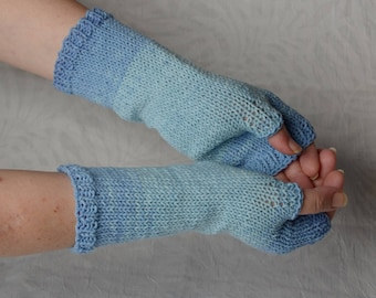 cotton fingerless gloves, knit arm warmers, knitting accessories