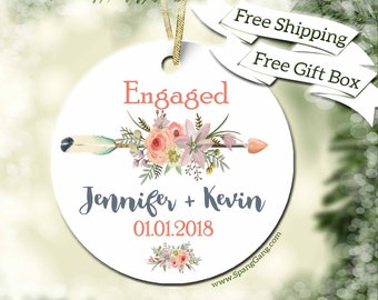 Gift for Engagement | Personalize Wedding Gift | Wedding Gift | Wedding Shower | Just Married | Newlywed Gift | Customized Ornament | WE12
