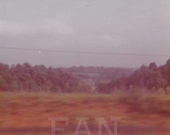 From the Train, 1970s, Upstate New York, Instant Download Digital Vintage Photograph Landscape Photography