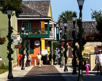 St. Augustine Alley Photograph