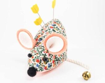 Cute Pincushion | Liberty of London Notions Floral Mouse Pin Cushion