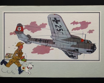 Tintin. Chromo Tintin. See and know. Aviation. War 1939-1945. Series 1. NO. 19. Dornier DO-215. 1939 Germany.