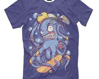 Skating Octopus T-Shirt