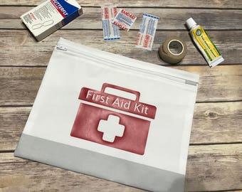 First Aid Kit - Travel First Aid Kit - First Aid Kit Bag - First Aid Bag - First Aid Pouch - Car Emergency Kit - Emergency Kit Bag
