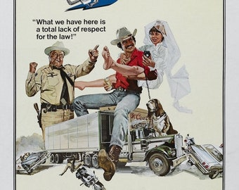 Spring Sales Event: Smokey and the Bandit Movie POSTER Burt Reynolds 70's