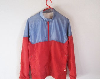VINTAGE Cute Colorful Blue and Red Light Jacket - Size M