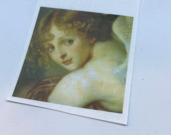 "Vintage Fusible Image Angel  2 1/2"" square"