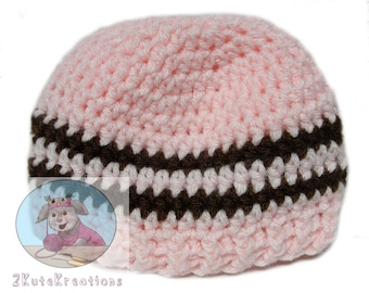 Crochet baby hat, Hospital caps, hospital newborn hats, Crochet baby beanies, Newborn baby hat, pink baby hat, baby shower gift