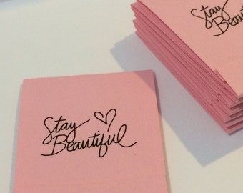 Stay Beautiful Inspirational Pastel Pink Set of 10 Matchbook Mini Notepad Notebooks