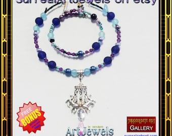 Art Jewel Choker Necklace - Jewelry plus Bracelet FREE