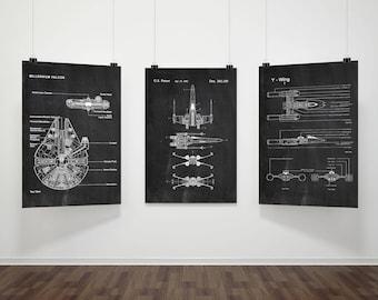 & Star wars wall art | Etsy