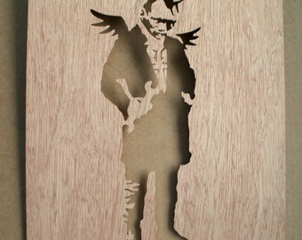 Banksy Punk Angel Stencil