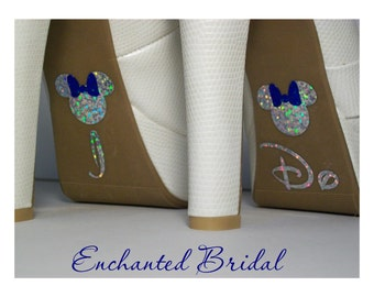 Disney Inspired I Do Shoe Stickers You Pick Color Sparkly Wedding Shoe Decals Disney Decals Disney Bride Shoe Stickers  Minn[e Shoe Stickers