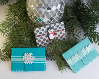 Gift Card Holder, Gift Card Wallet, Christmas Gift Card Holder, Holiday Gift Card Holder