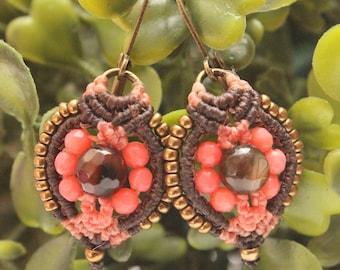 Earrings in Macrame