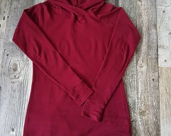 Tunic for woman - Burgundy plain