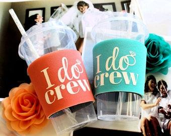 Bachelorette Party,  Cups, I Do Crew,  Bachelorette Favors, Bridesmaid Cups, Matching Bride Cup, Bachelorette Party Supplies