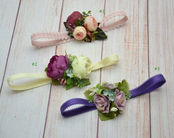 Baby girl headband- Toddler headband- Newborn headband- Flower headband- Floral baby headpiece- Floral headband- Flower girl hair- Baby hair