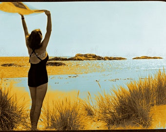 Summer of 1960 / Vintage Swimsuit Beach Summer Photography / 60's Poster, Ephemera, Wall Decor / Summer Art Print / Printable Photo Download