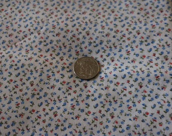 24 Sweet Flowered cotton blue and white Calico