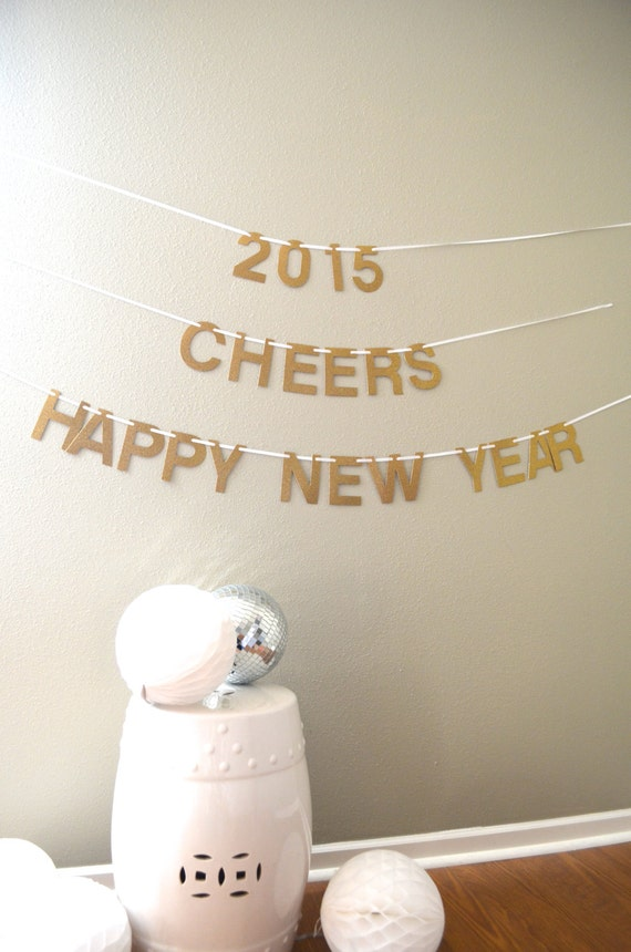 Happy New Year Banner with customizable characters, you choose the colors! For Auld Lang Syne 2018