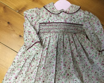 baby smocked dress