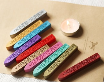 2pcs Sealing Wax Sticks for Wax Seal Stamp Wick Wedding Notecards Giftcards Envolope Letter