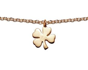 Gold Shamrock Necklace