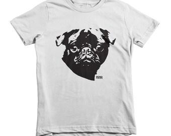 Pug Shirt, Pug Kids Clothes, Toddler Shirt With Pug, Back To School Tshirt, Youth Shirts, Custom Childrens Shirts, Personalised Kids T Shirt
