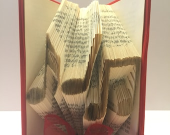 Folded Book Art, Music Notes, Centerpiece, Piano Recital Gift, Teacher Gift, Decor, Personalized, Treble Clef, Unique Gift, Party Retirement
