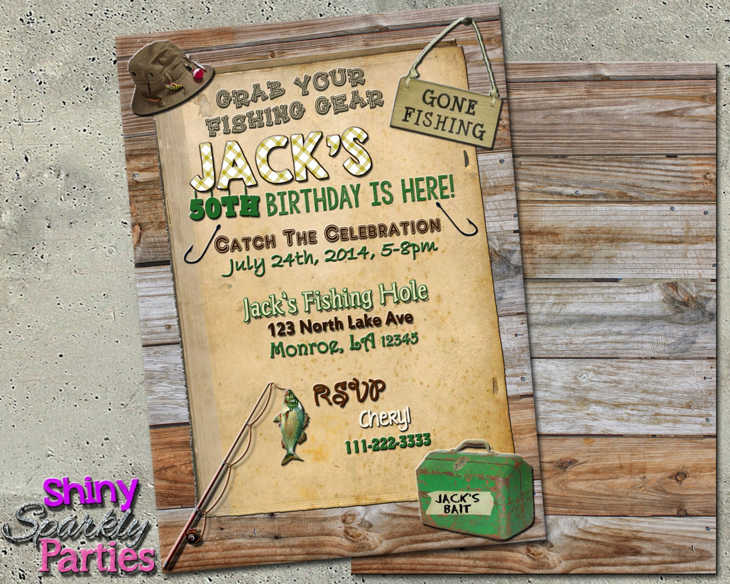 FISHING BIRTHDAY INVITATION Fishing Invitations Fishing