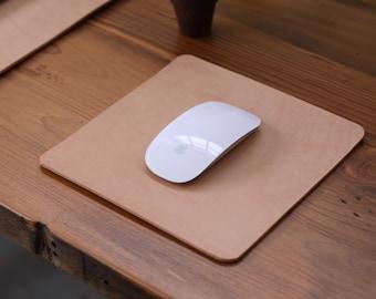Leather Mousepad - Natural Vegetable Tan - Square