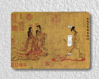 Admonitions Scroll Chinese Painting Single Toggle Light Switch Plate Cover