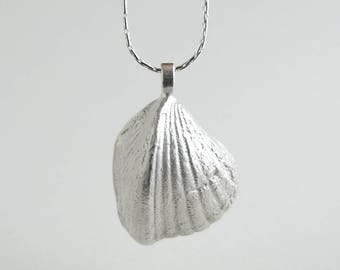 Triangle Shell Pendant Sterling Silver Triangle Shell Necklace Real Triangle Shell Jewelry