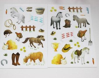 sticker set horse