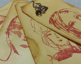 Set of 4 Altered Vintage Lady Tags