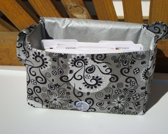 """Large 4"""" Size Coupon Organizer Holder - Attaches to Your Cart- Magical Silvery Moon with Silver Lining"""