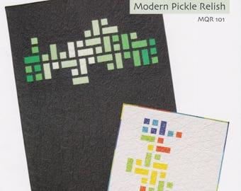 Modern Pickle Relish, Modern Quilt Relish, Mosaic DIY Quilt Pattern